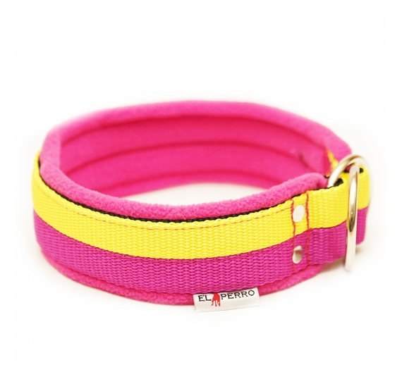 Choke collar JUICY FLEECE COMFORT CHOKE double color 4 cm
