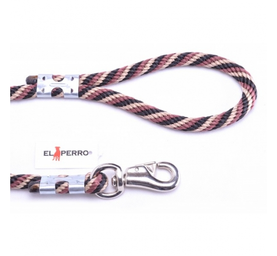 EXCLUSIVE CHROME BULL SHORT ROPE LEAD 80CM/16MM
