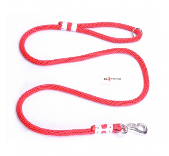 EXCLUSIVE CHROME BULL ROPE LEAD 180CM/16MM