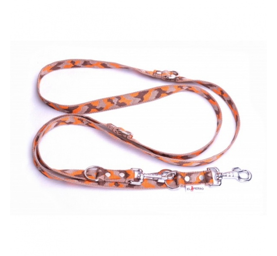 CAMOUFLAGE ADJUSTABLE LEAD 120-240/2,5CM